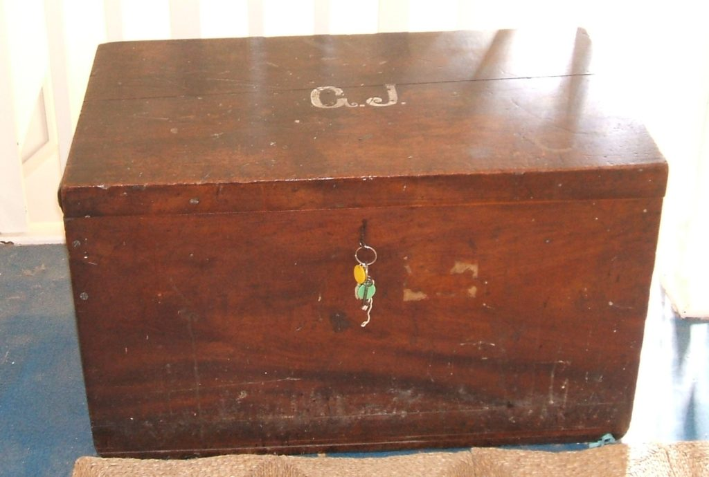 Hugh's letters were found in this trunk